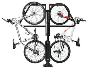 Typically placed at the end of your parking stall, the Urban Parking Stall holds up to two standard bicycles.
